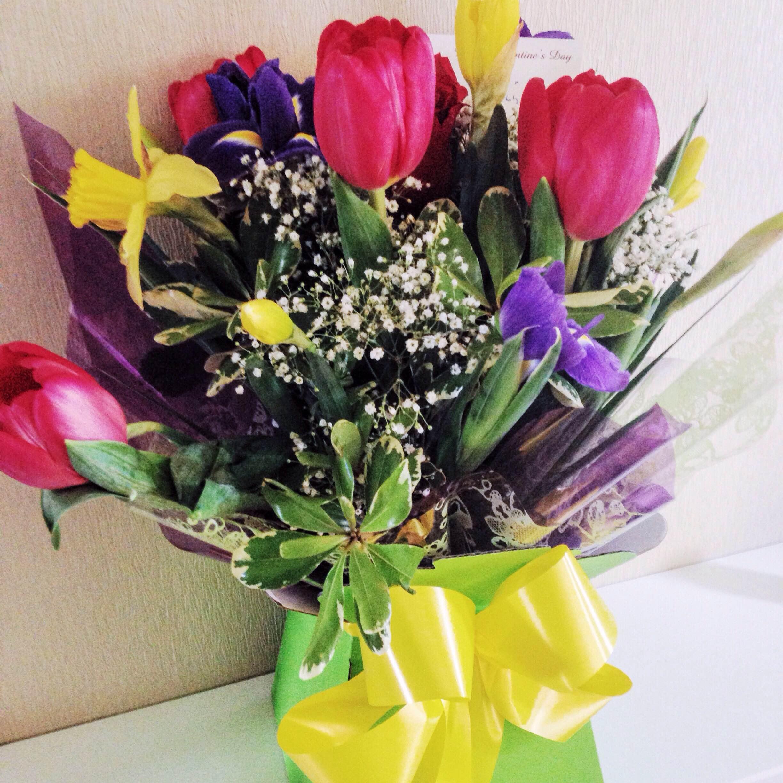 Valentine's Spring bouquet from Tom