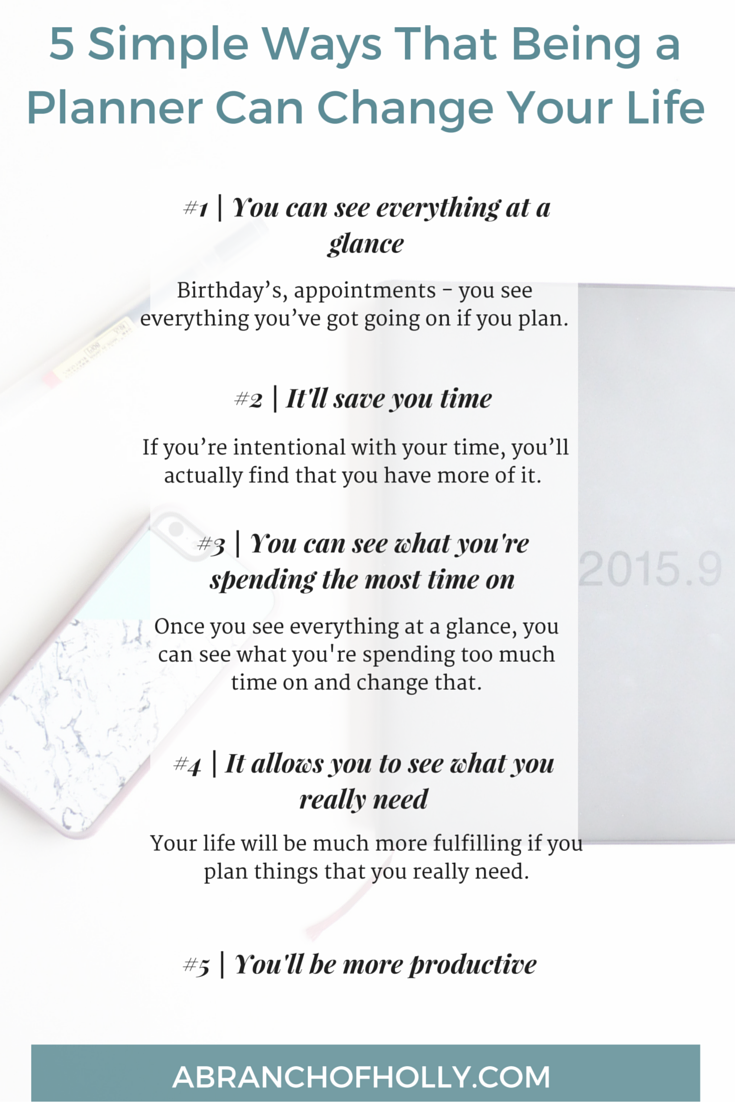 5 Simple Ways That Being a Planner Can Change Your Life