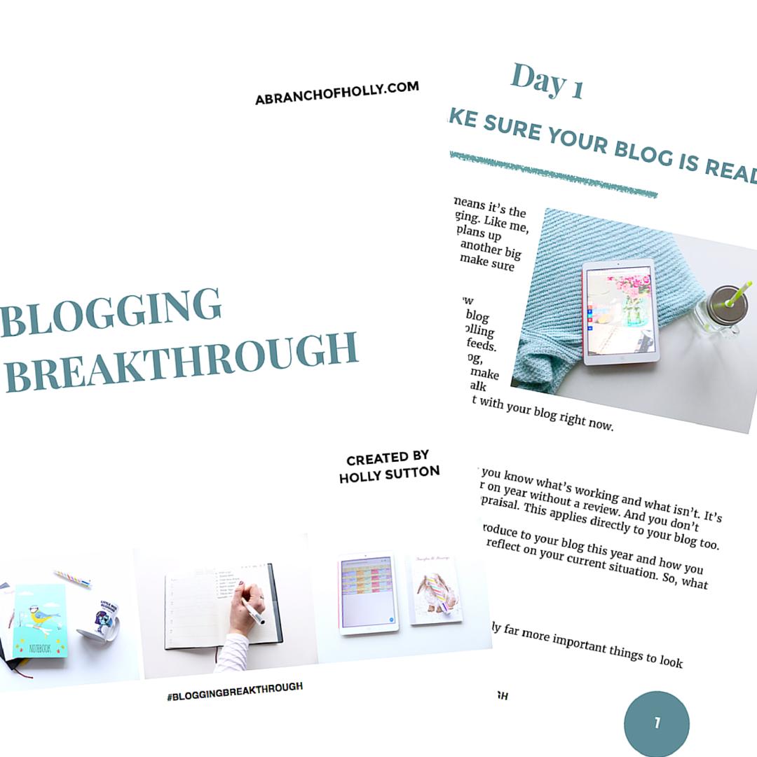 Blogging Breakthrough - the free eBook
