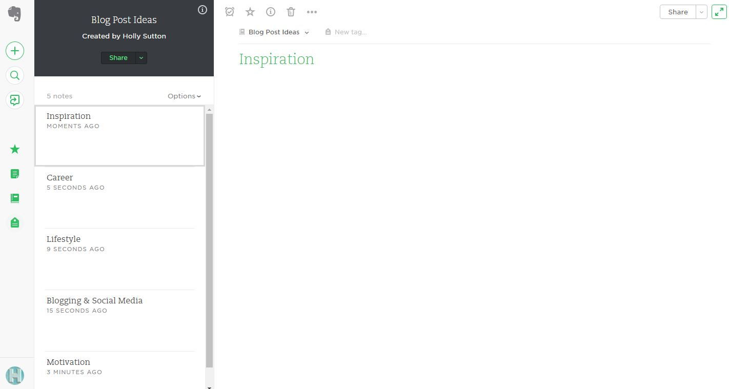 How to Use Evernote for Blog Post Inspiration