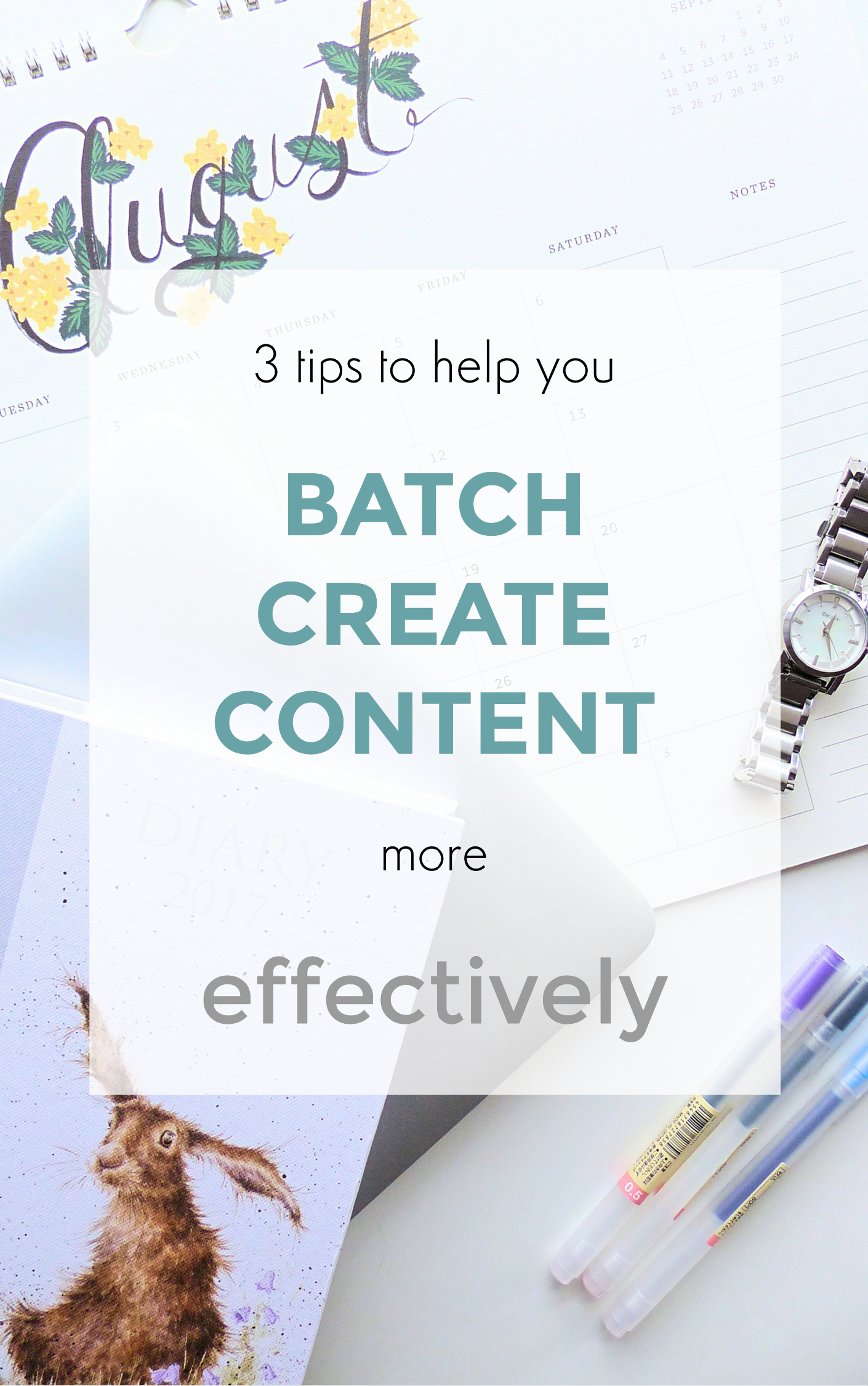 3 tips to help you batch create content more effectively