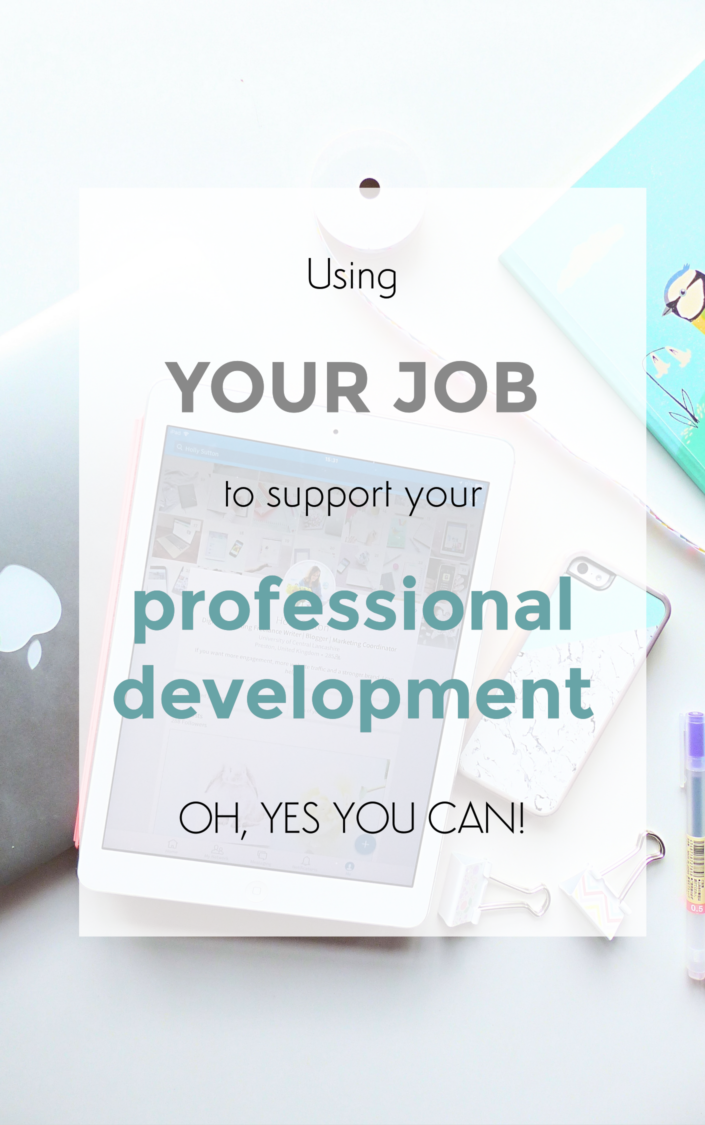 using your job to support your professional development