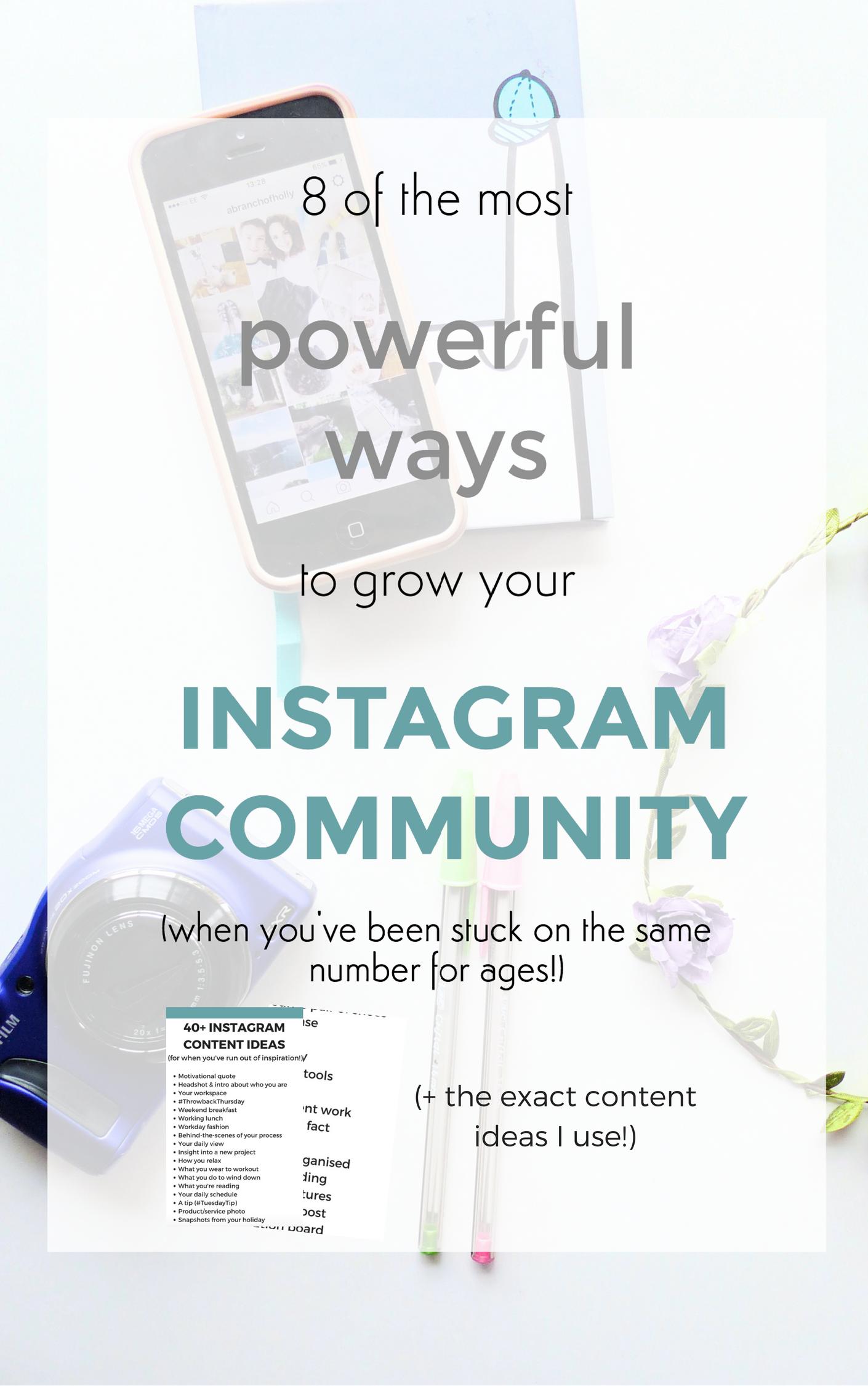 grow instagram community
