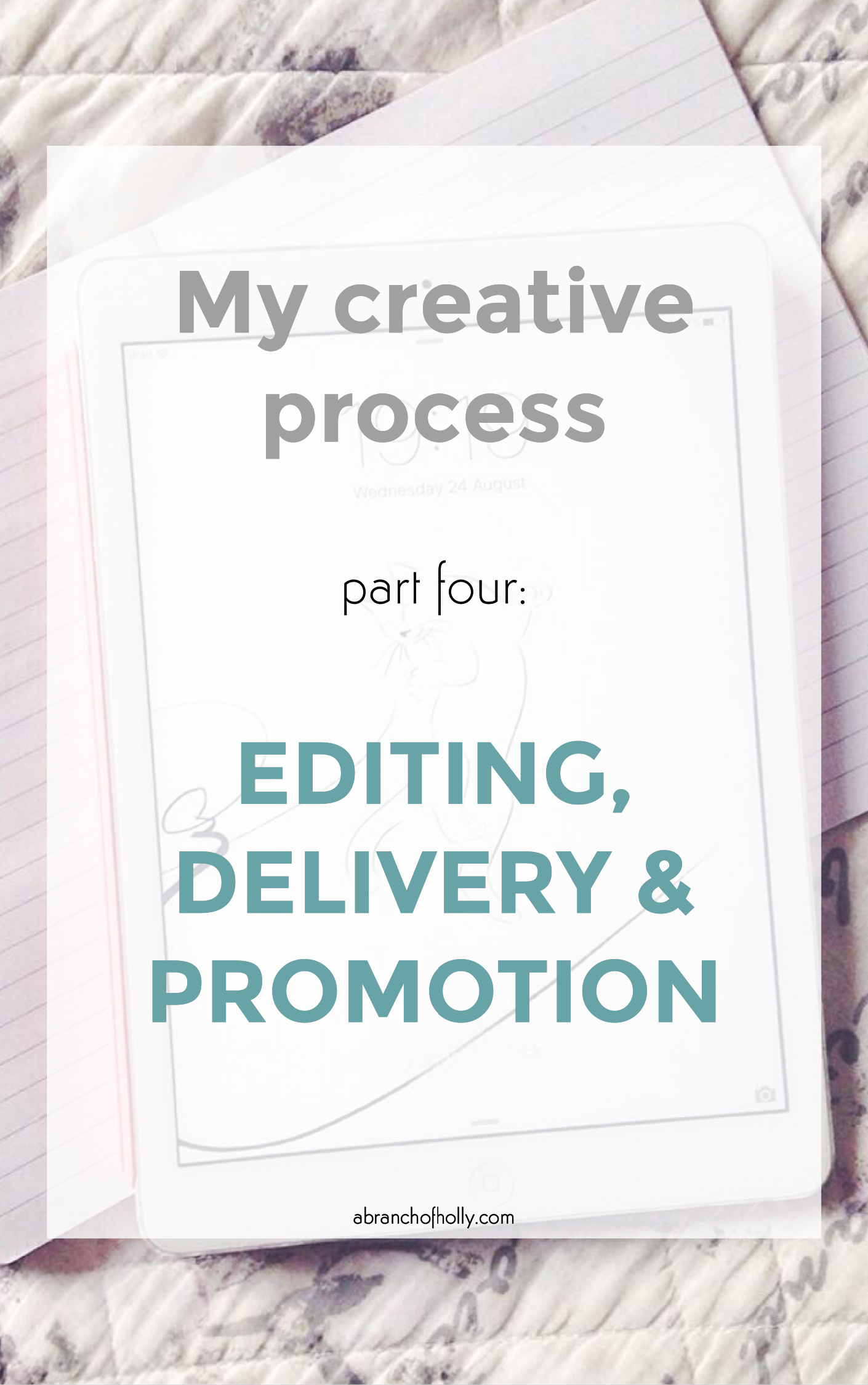 my creative process part four - editing, delivery and promotion