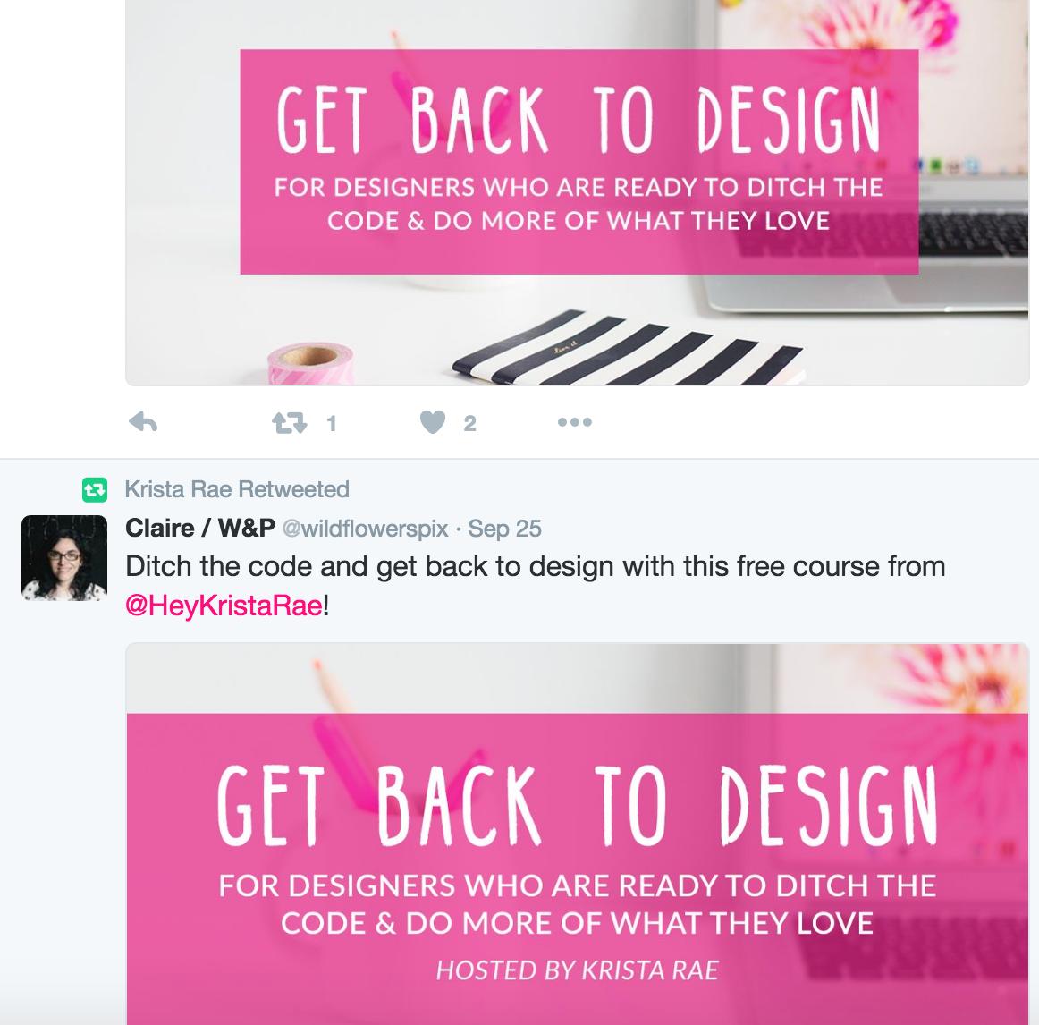 branded blog post graphics for twitter