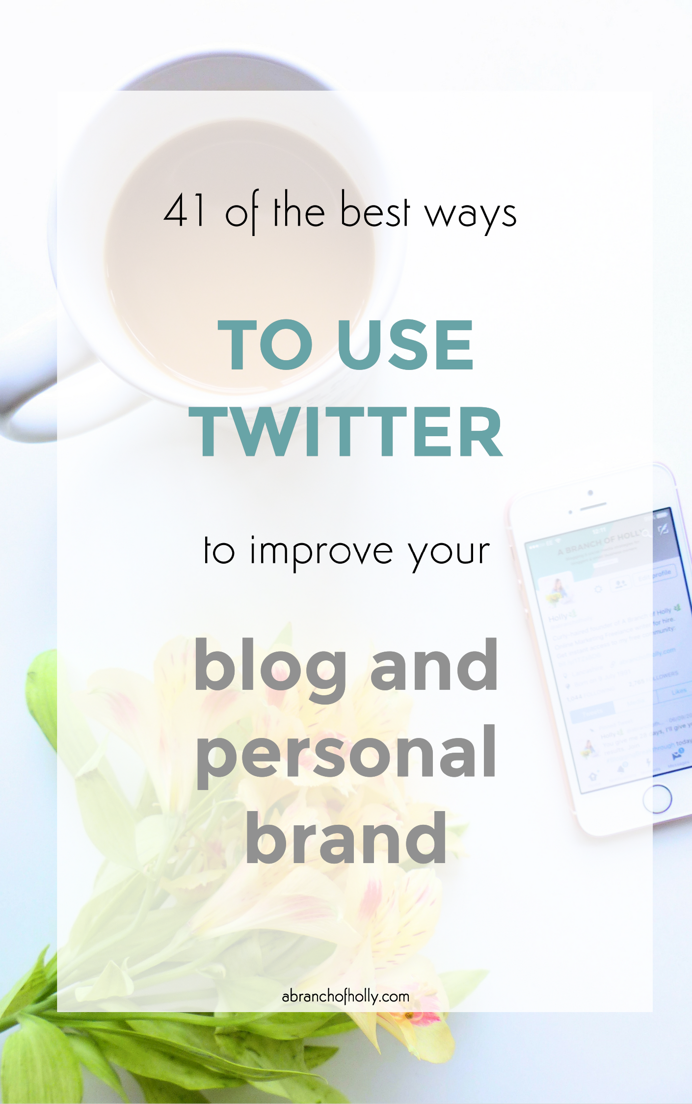 how to use twitter to improve your blog and personal brand