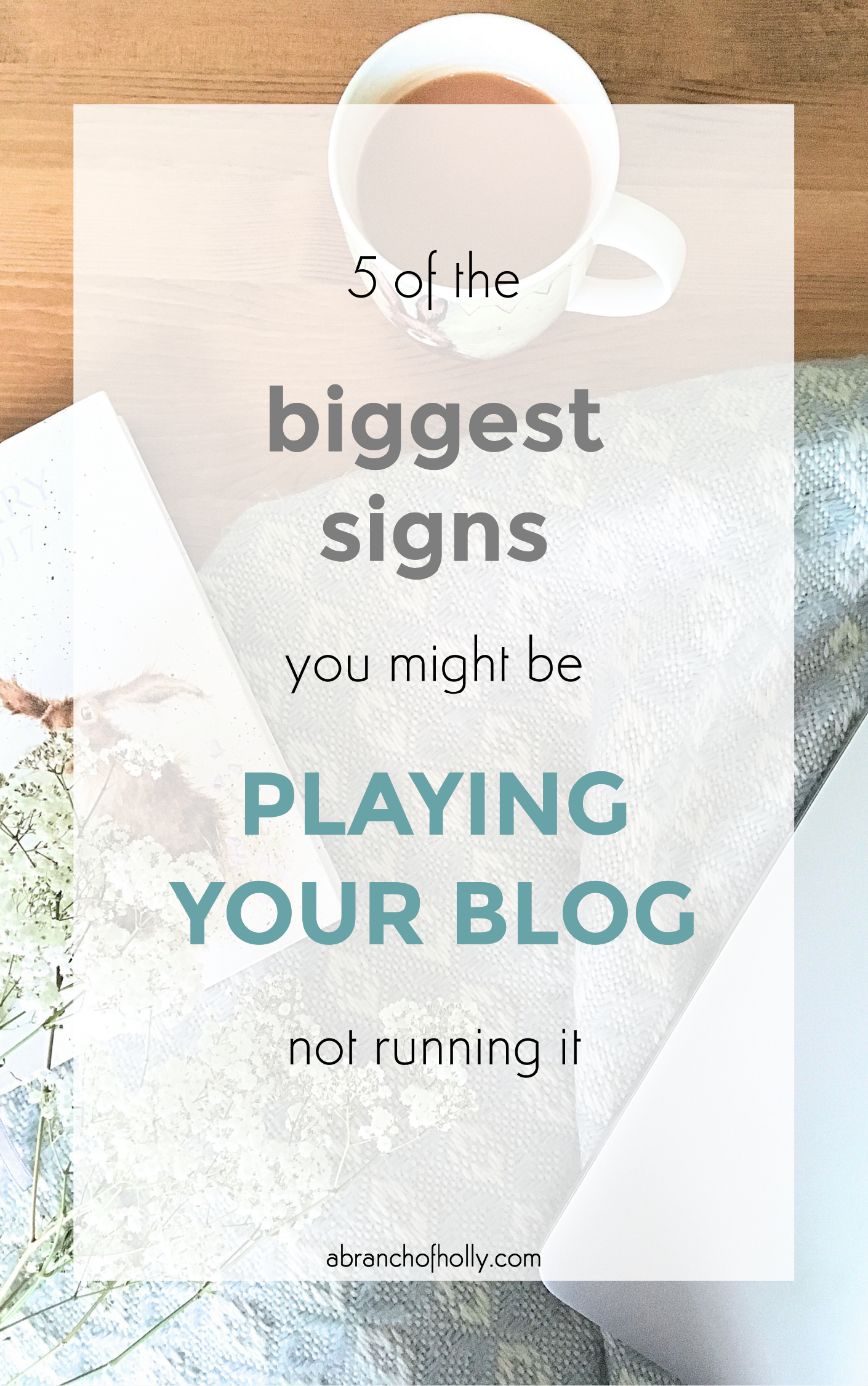 signs you might be playing your blog not running it