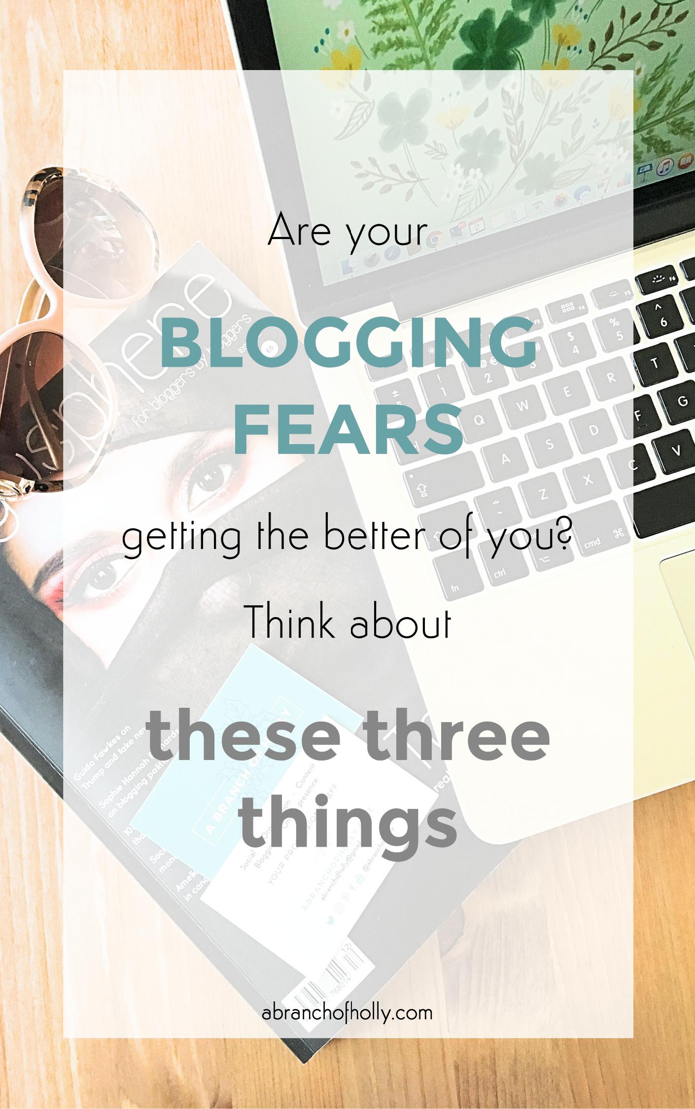 conquer blogging fears