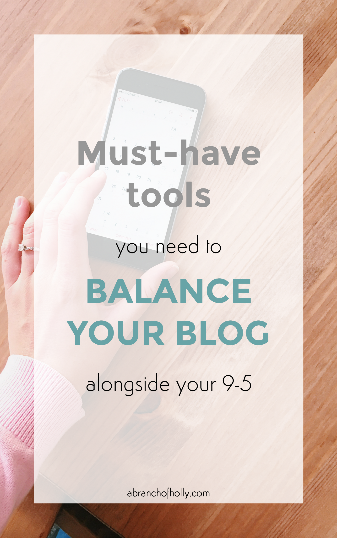 tools to balance blog alongside 9-5