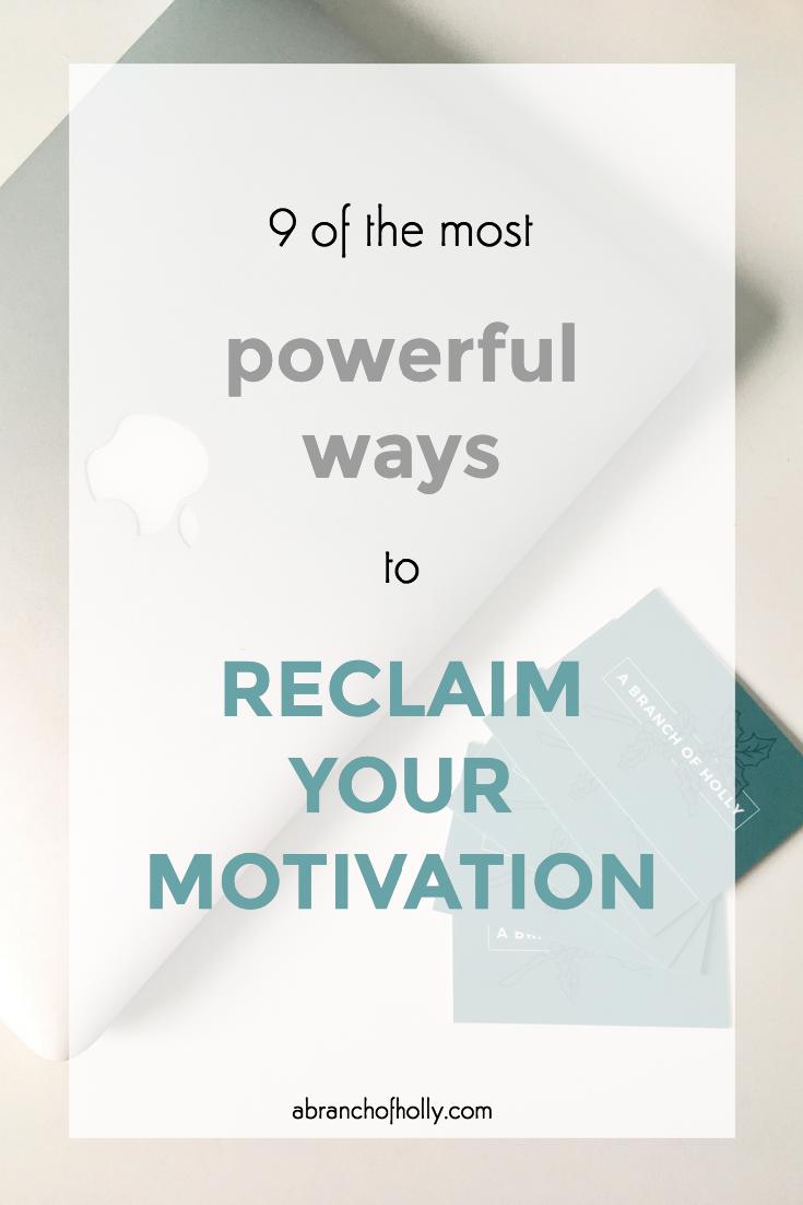 reclaim motivation