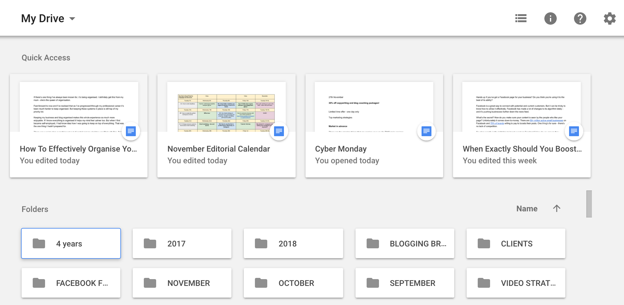 how to organise your blog work and client projects