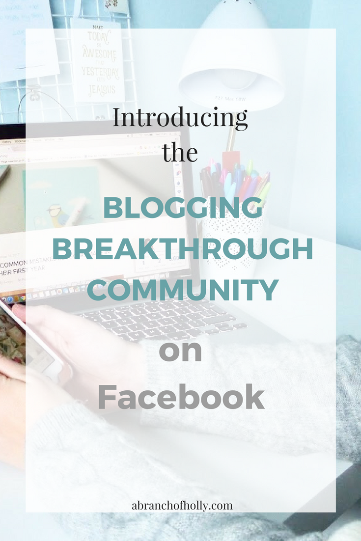 introducing the blogging breakthrough community on facebook