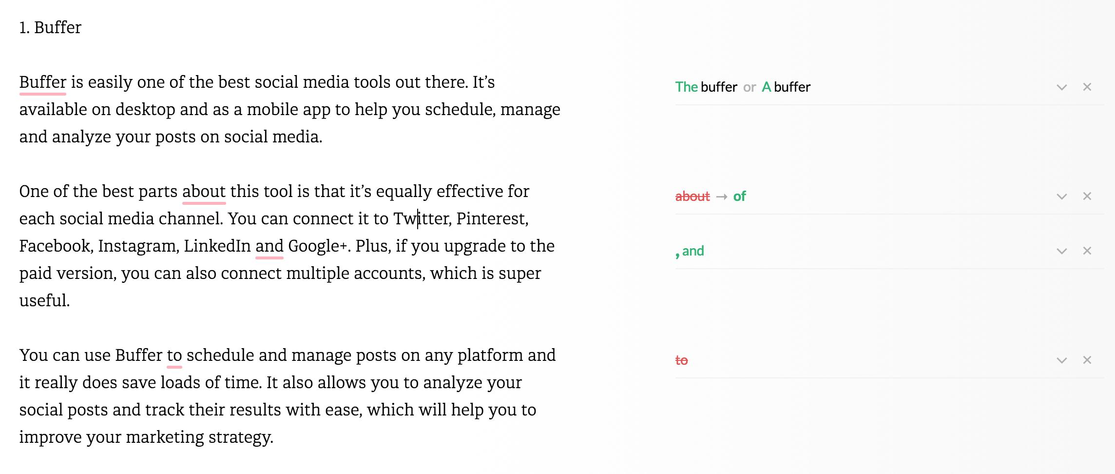 best blogging tools - grammarly