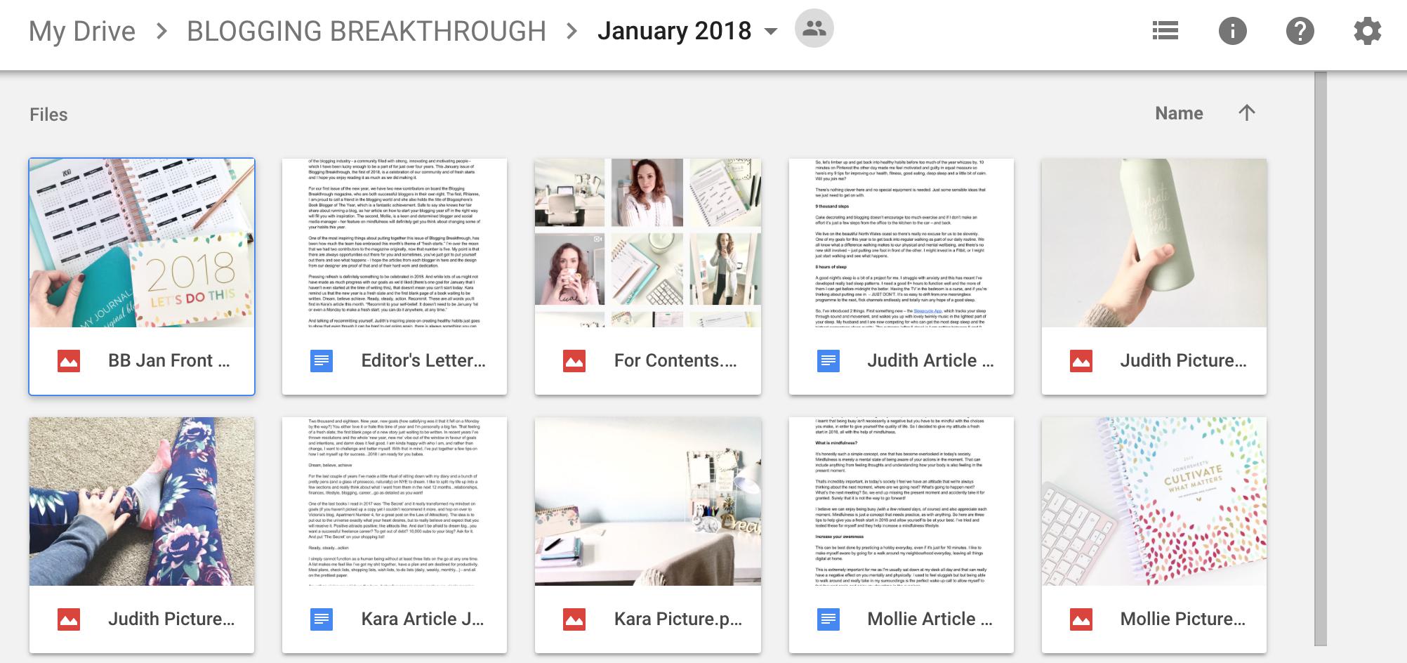 best blogging tools - google drive