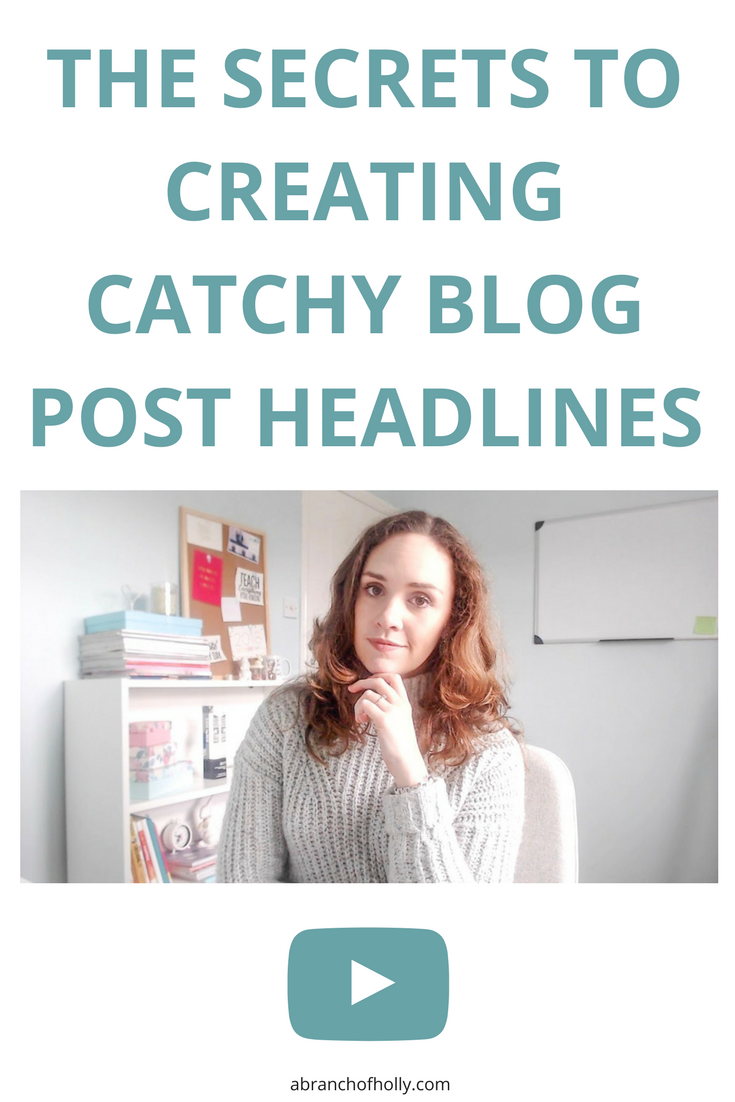 THE SECRETS TO CREATING CATCHY BLOG POST HEADLINES by A Branch of Holly - Whether you blog for business or pleasure, your headline has to do a lot of work. So here are some secrets on how to create catchy blog headlines.