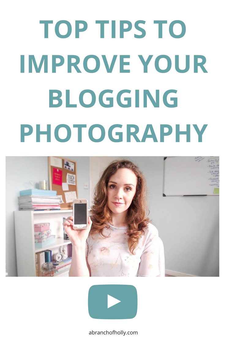 Having branded, eye-catching photos is key when it comes to being online. But what if you need to improve your blogging photography? I'm sharing some tips in this video.