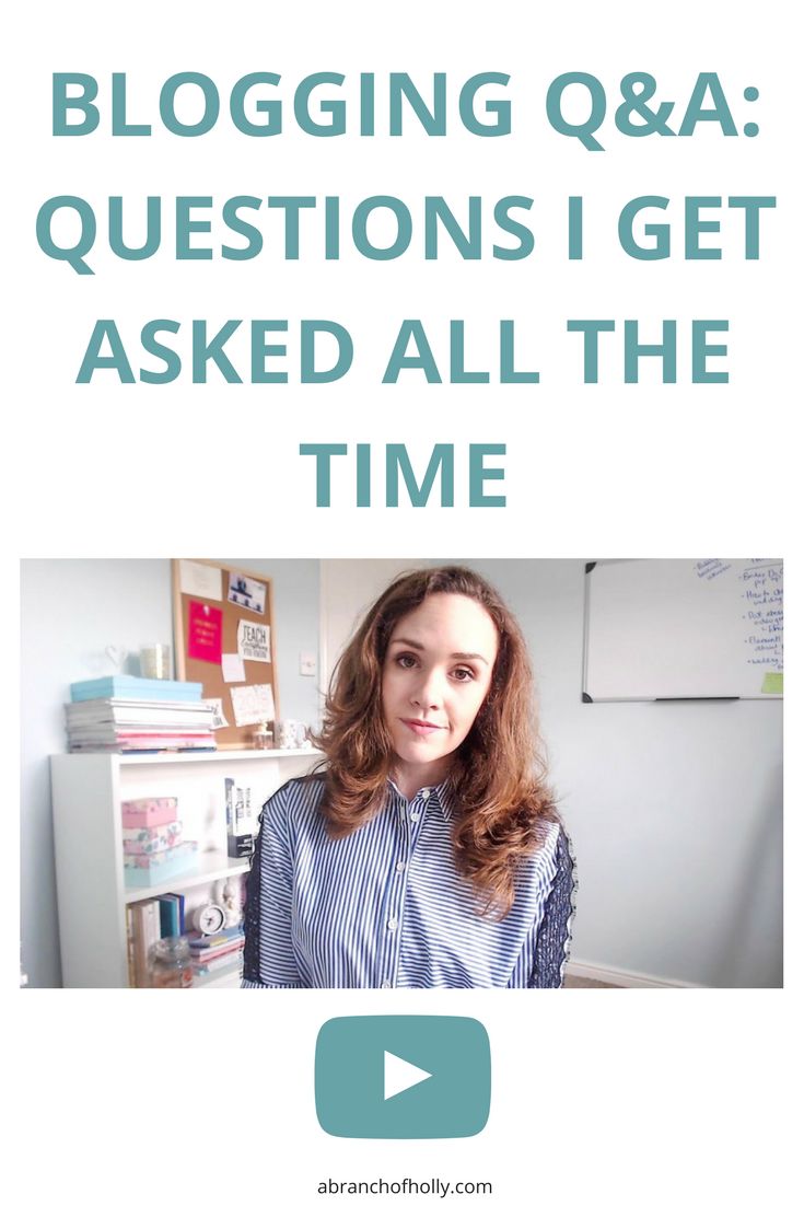 Let's be honest, there are some questions that I get asked about blogging all the time. So I thought I'd put them all into a blogging q&a!