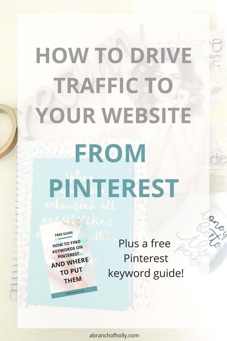 how to drive traffic to your website from pinterest