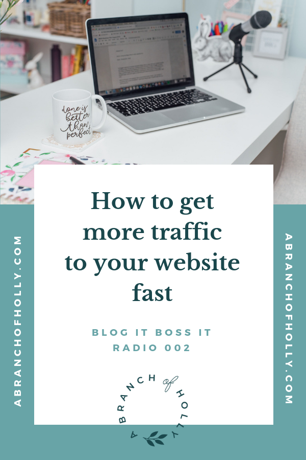 how to get more traffic to your website fast