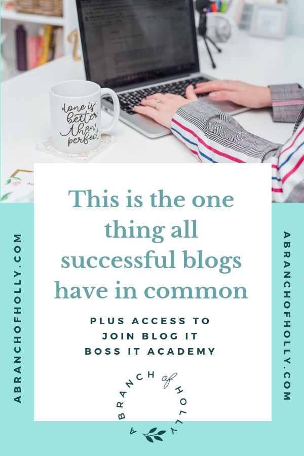 THIS IS THE ONE THING ALL SUCCESSFUL BLOGS HAVE IN COMMON