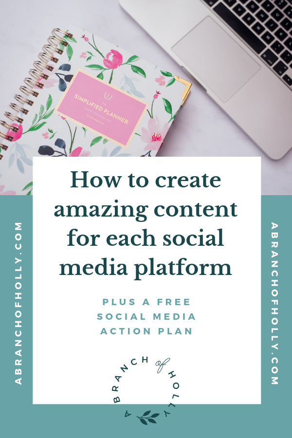 Wish you knew what content to post on each social media platform? In this post, I'll share with you my top tips on what to post to each social media platform, including specific social media platform tips. Plus how use social media to enhance your productivity, some marketing strategies and insights on using social media for business marketing. Repin and grab my free cheat sheet to put your social media plan into action! #socialmedia #businessmarketing #entrepreneur