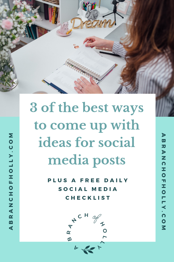 If you fall under the small businesses umbrella and you're looking for some social media post ideas. I've got you covered. Growing your social media followers and learning how to develop your marketing daily and weekly isn't impossible, but you DO need some direction from someone who's been there before you. In this post I'm sharing how to come up with social media post ideas that will help you generate ideas for Facebook and Instagram, as well as share some branding tips that most small businesses miss. Repin and grab one of my free social media cheat sheets! #smallbusinesses #socialmedia #marketing