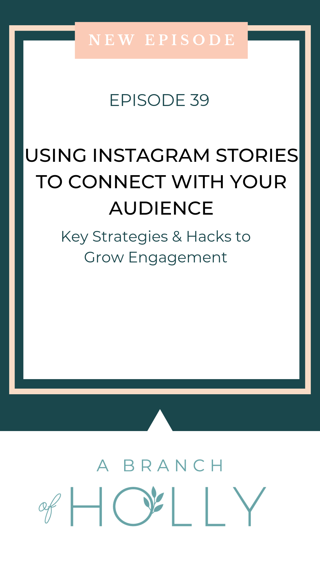 Want to learn how to use Instagram Stories effectively for business? In this episode, I'll share with you ideas to get more engagement, including design elements to keep in mind, how to get creative with questions and so much more. Repin to listen to the full episode on how to use Instagram Stories for business! #instagramstories #instagram #business