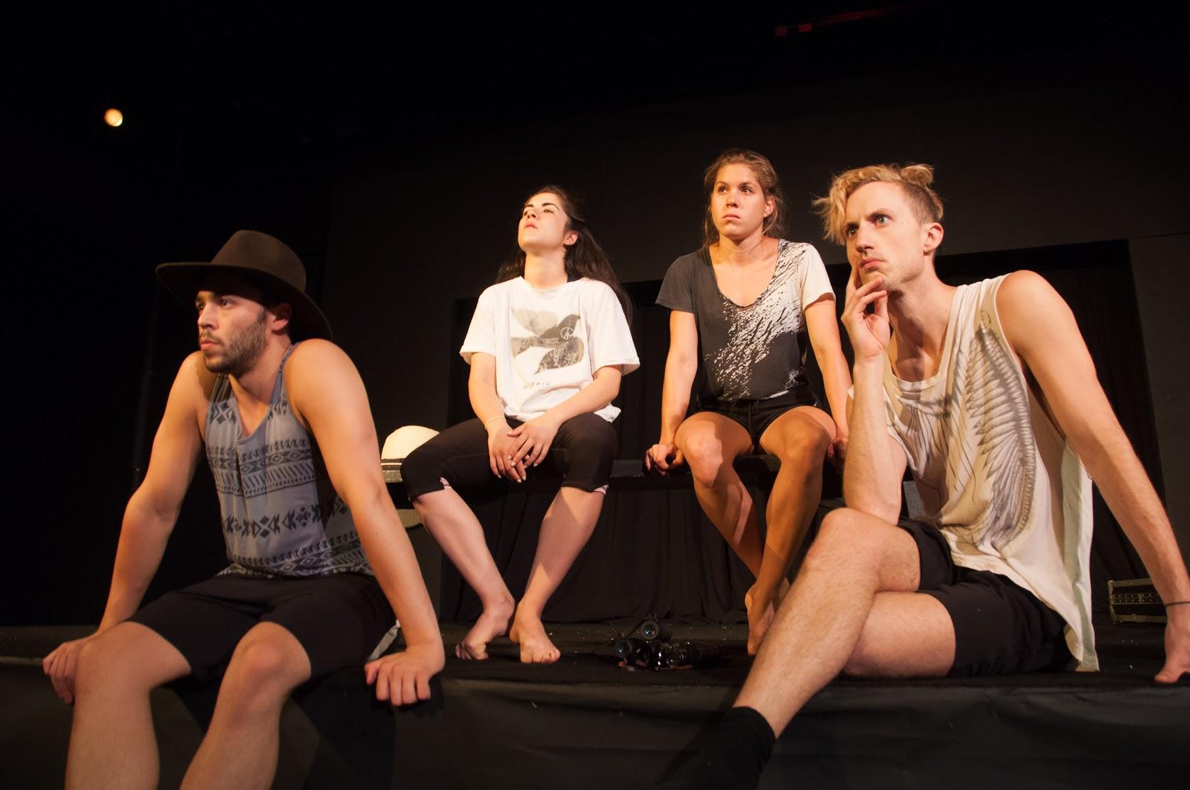 LubDub. Theatre:  Geoff Kanick, Caitlin Cassidy, Skye Van Rensselaer, Clinton Edward  photo by Kyler Ross