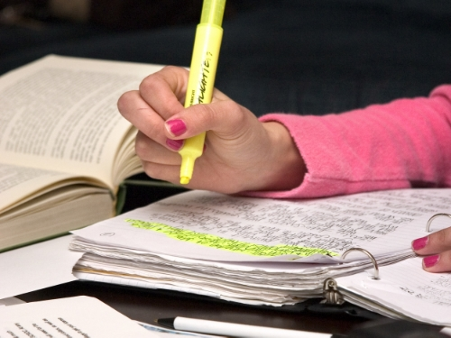 Time to study? Great! Let me just grab my notebook, textbook, highlighters, colored-pens, flash cards, snacks and energy drinks.