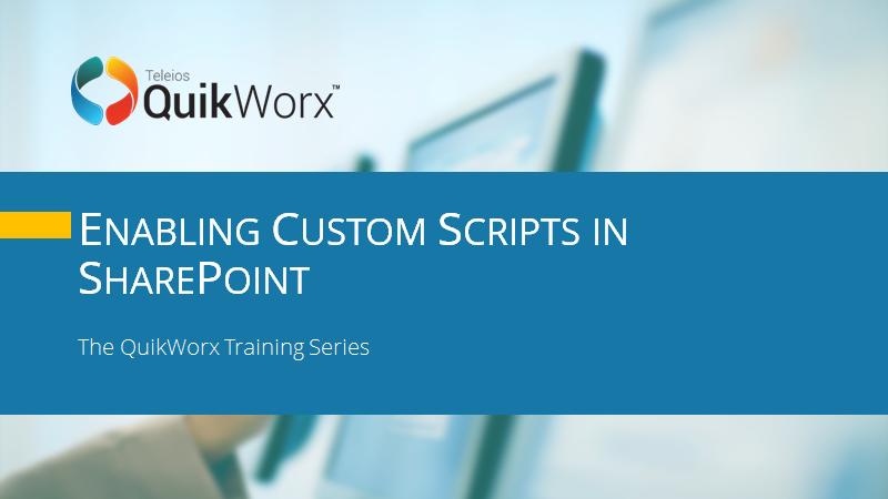 Enabling Custom Scripts in SharePoint