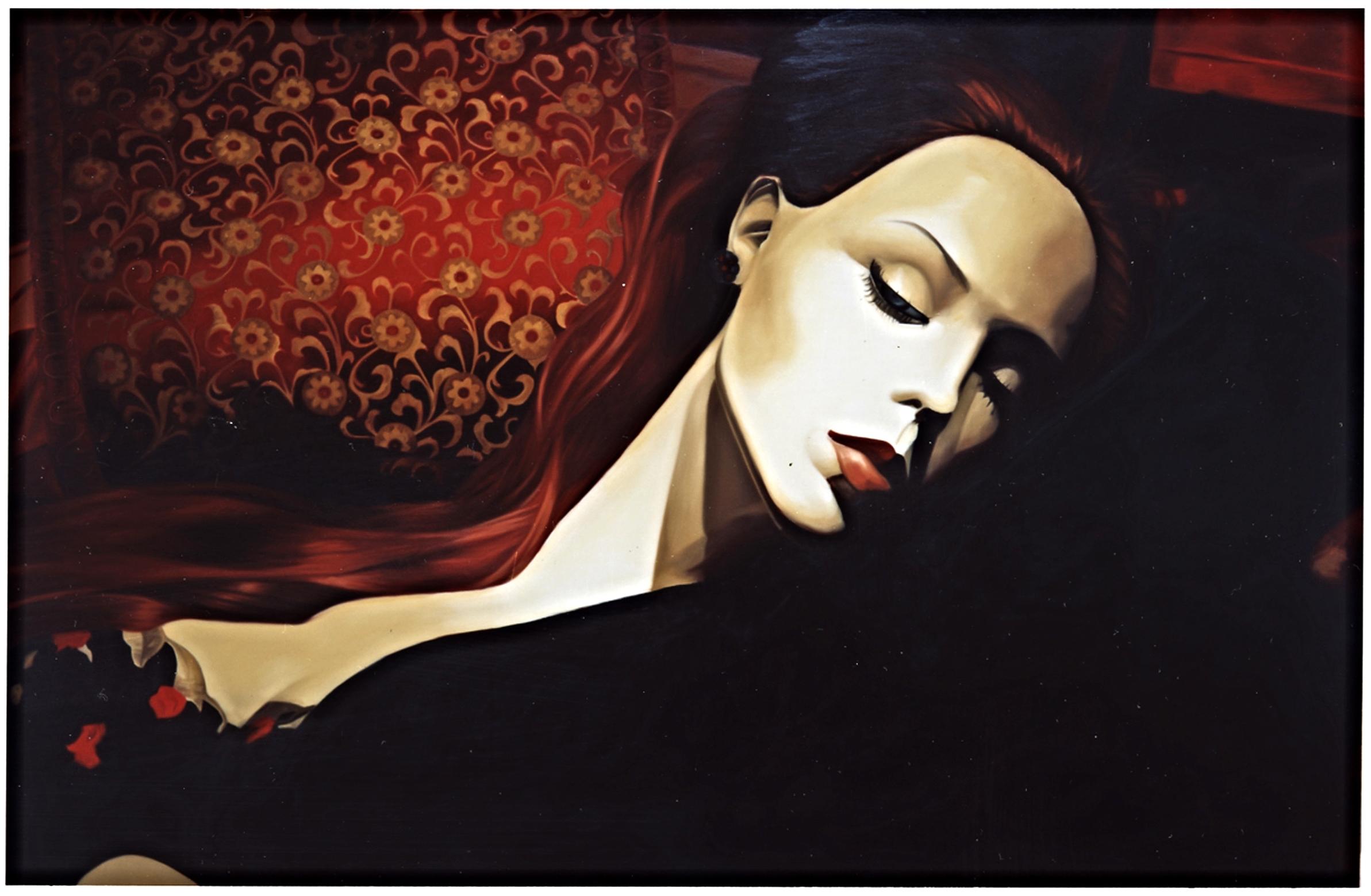"Alex in ""Red Velvet""  Oil on Canvas - 44 x 68in - 2003"