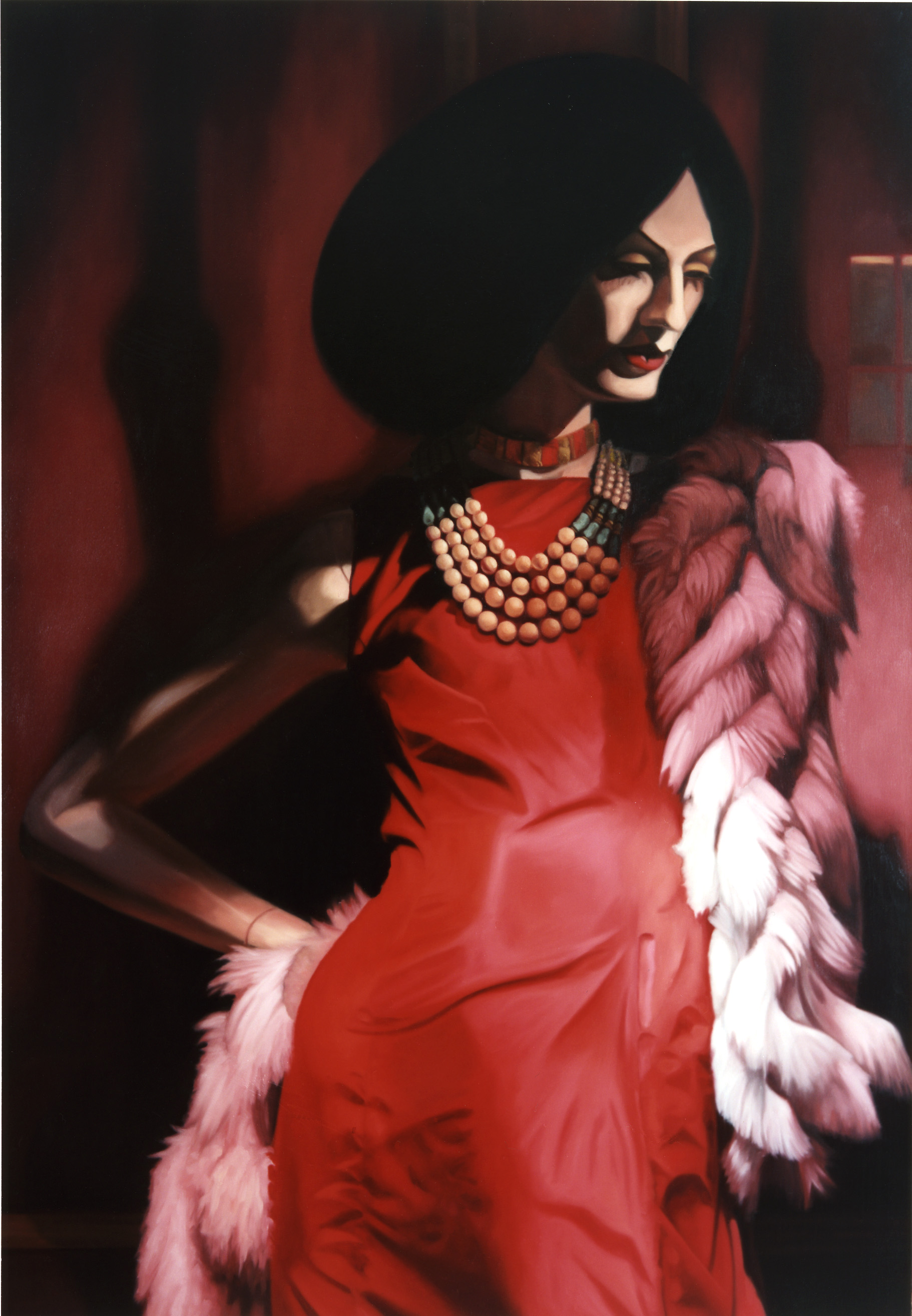 """Victoria in """" All I Need""""  Oil on Canvas - 60 x 40 in - 2003"""