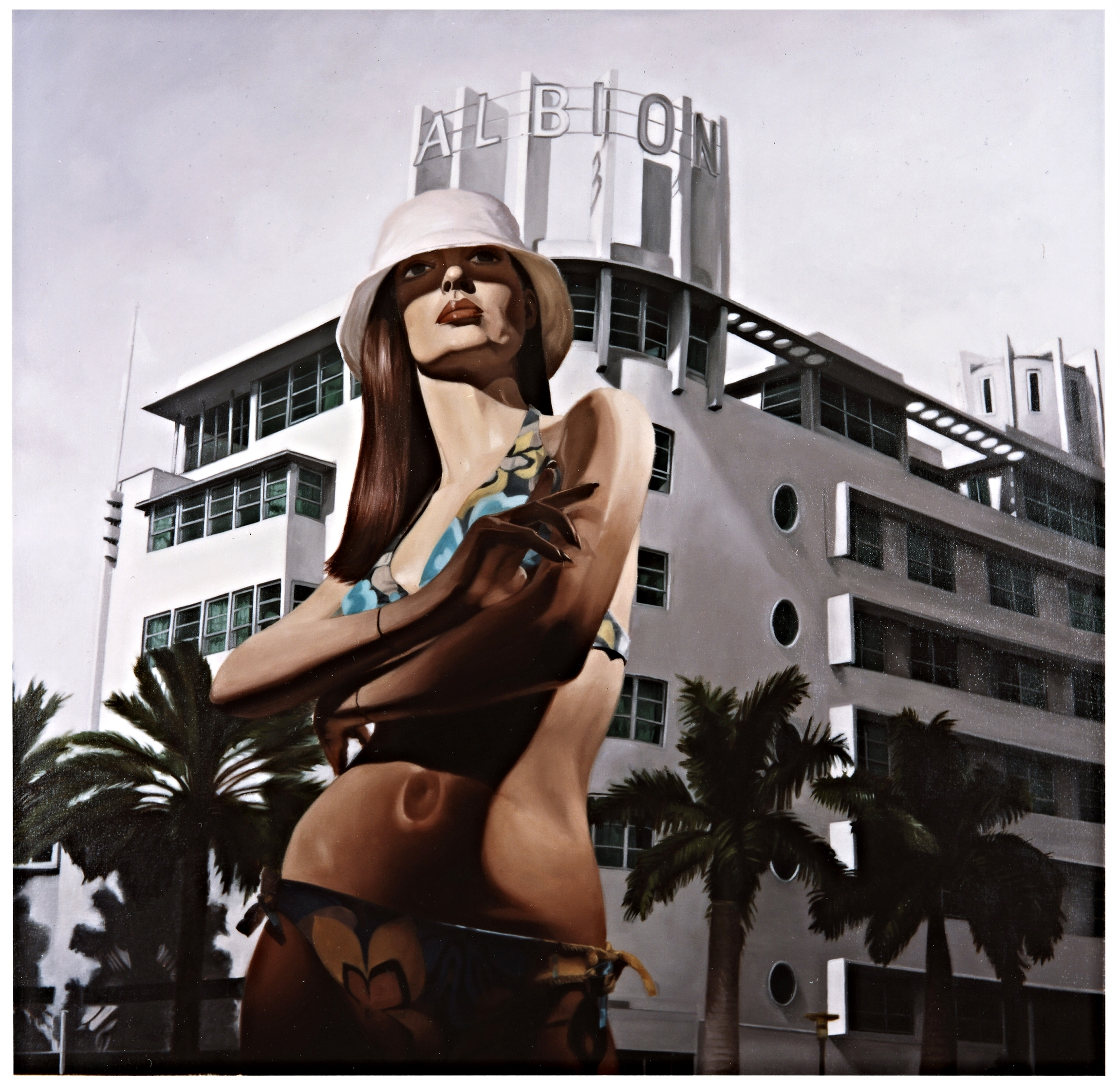 "Margo in "" Miami Vice""  Oil on Canvas - 36 x 36in - 2004"