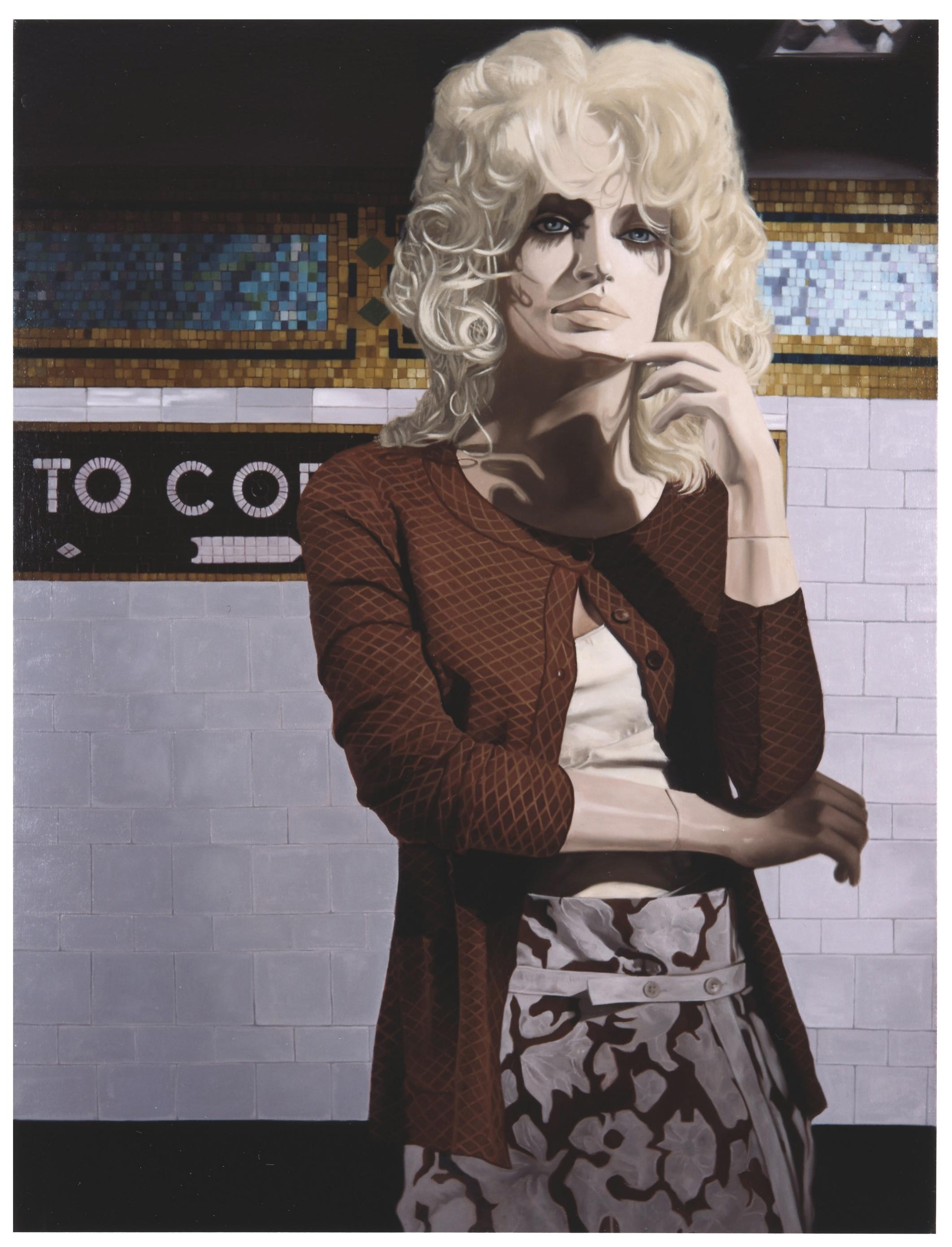 """Farah in """" Cortlandt St.""""  Oil on Canvas - 40 x 30 in - 2004"""