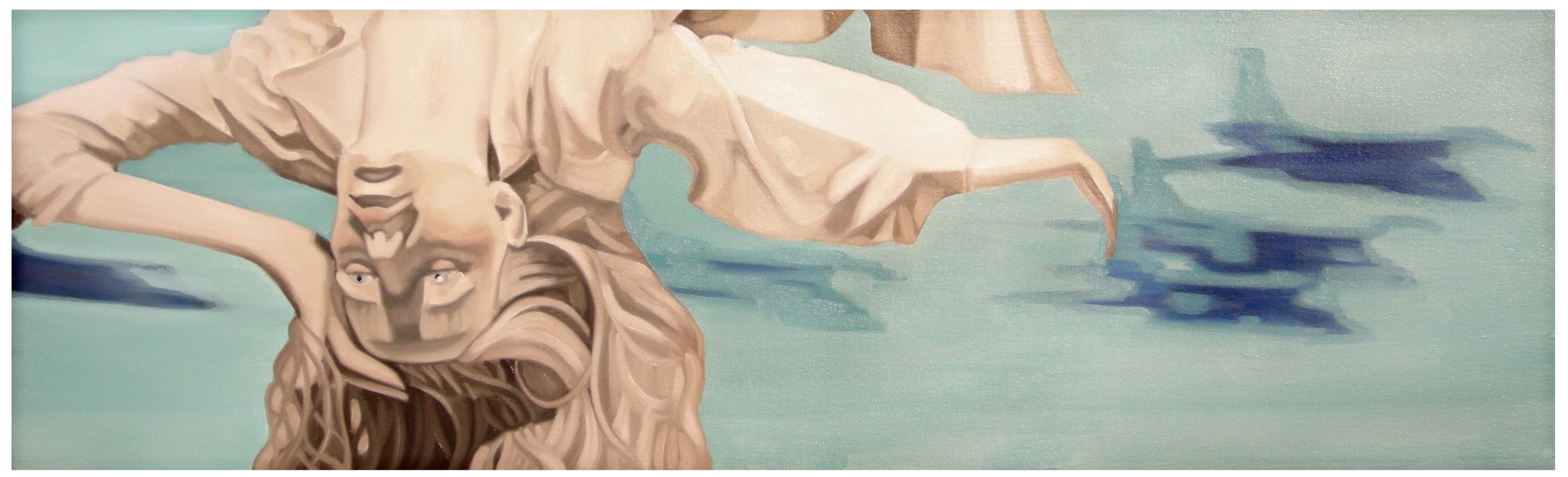 Jet Fighter  Oil on Canvas - 40 x 12in - 2007