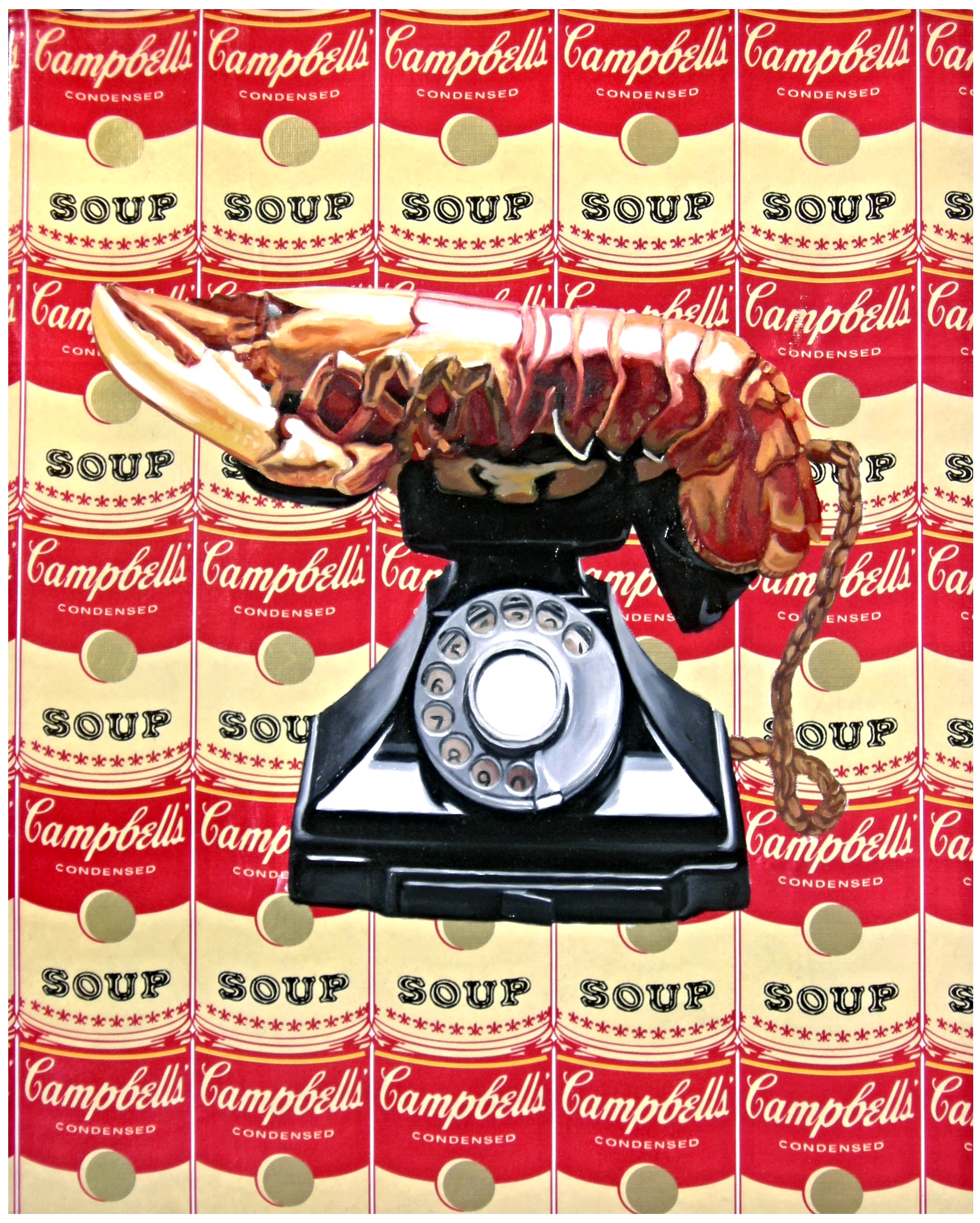Lobster Phone  Mixed Media - 20 x 16in - 2008