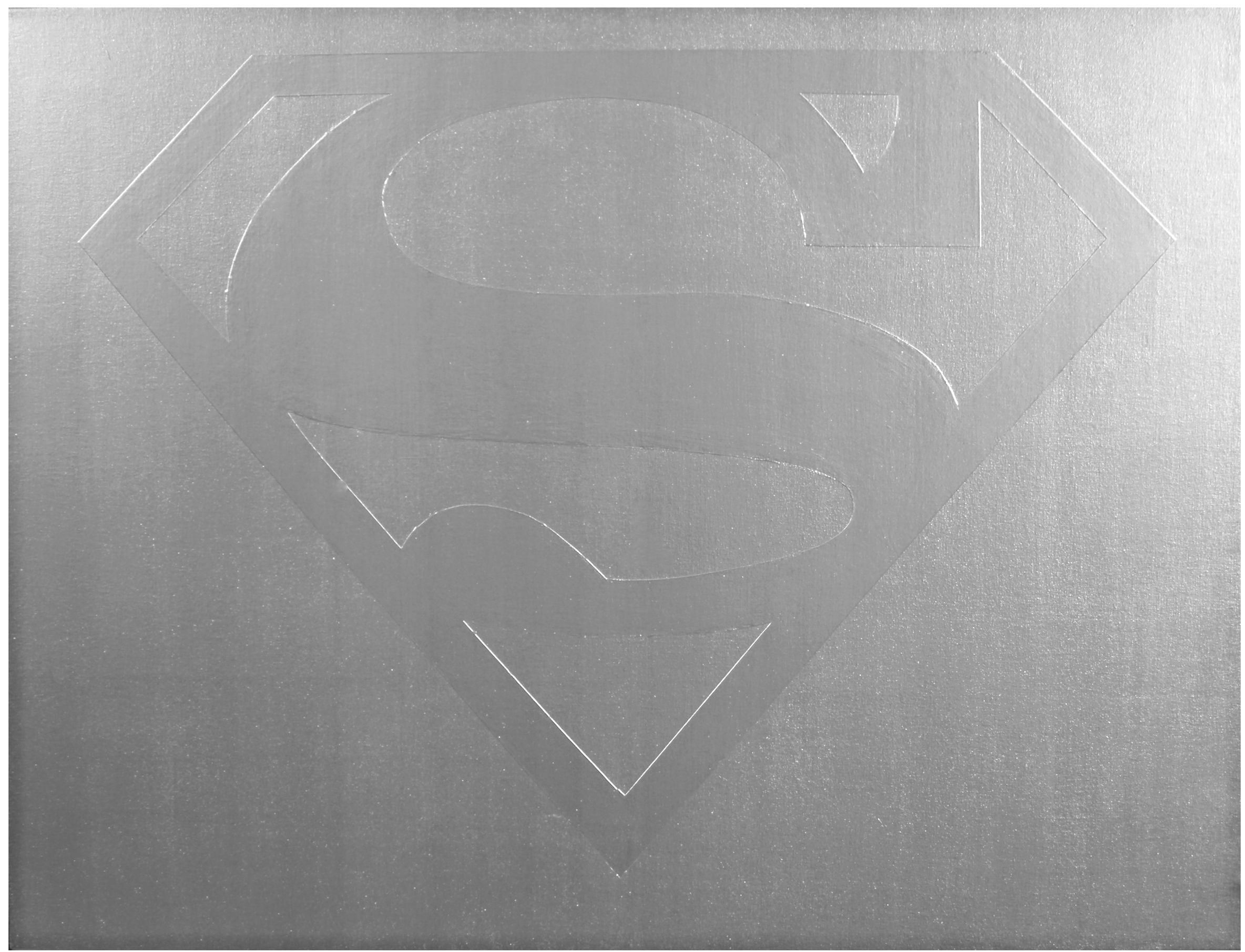 Man Of Steel ( There Goes My Hero )  Industrial Paint on Canvas - 32 x 42in - 2011