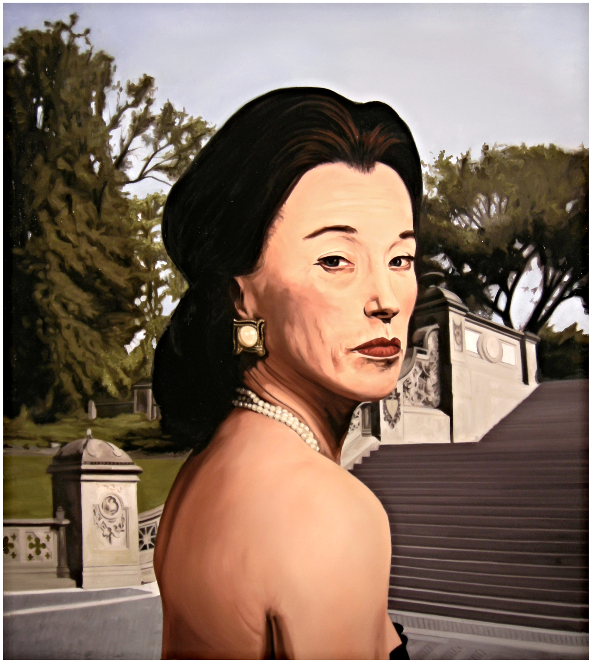 Socialite ( Photo - Cindy Sherman )  Oil On Canvas - 42.5 x 38in - 2009