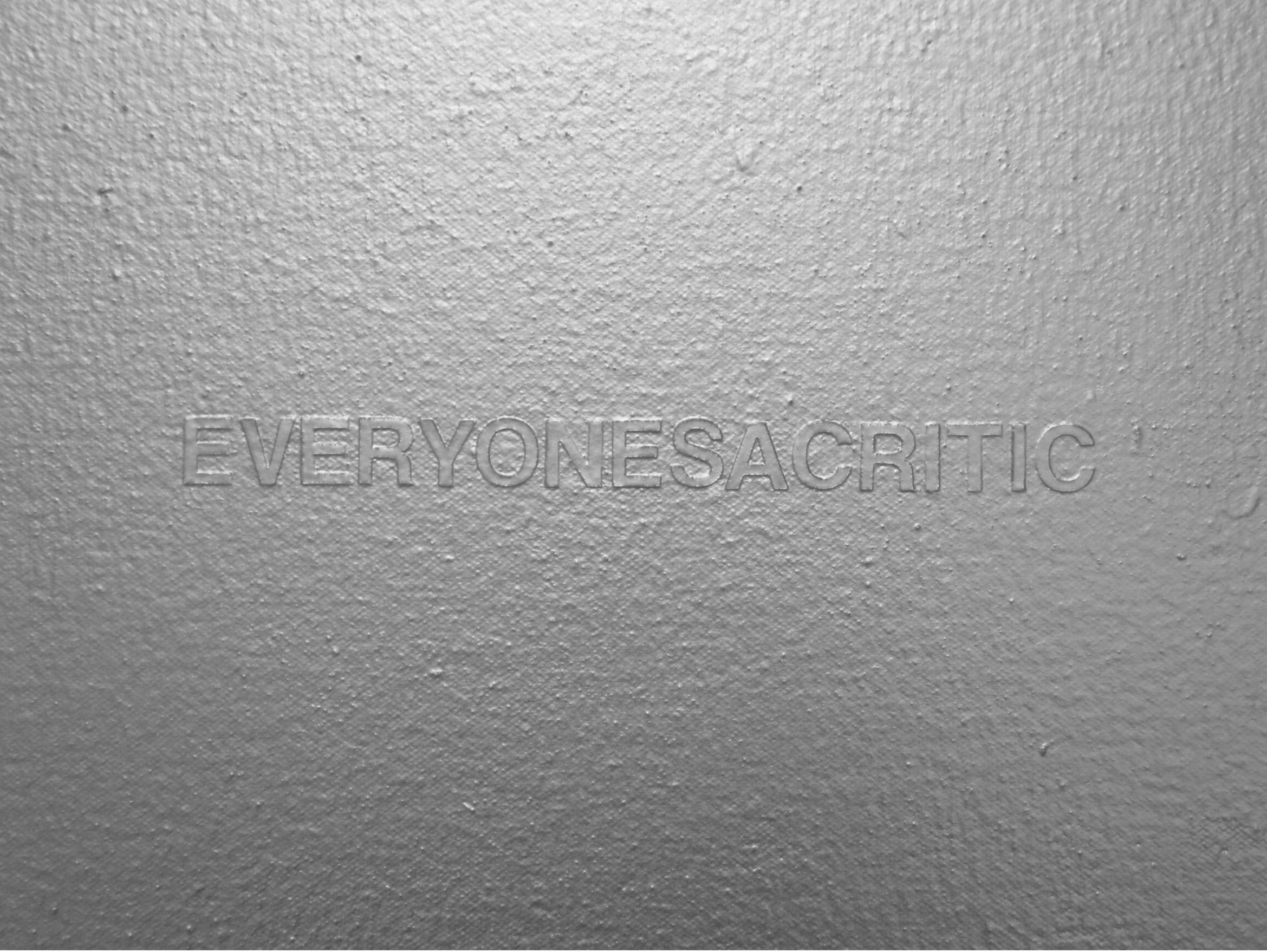 Everyone's a Critic  Industrial Paint on Canvas - 20 x 24in - 2011
