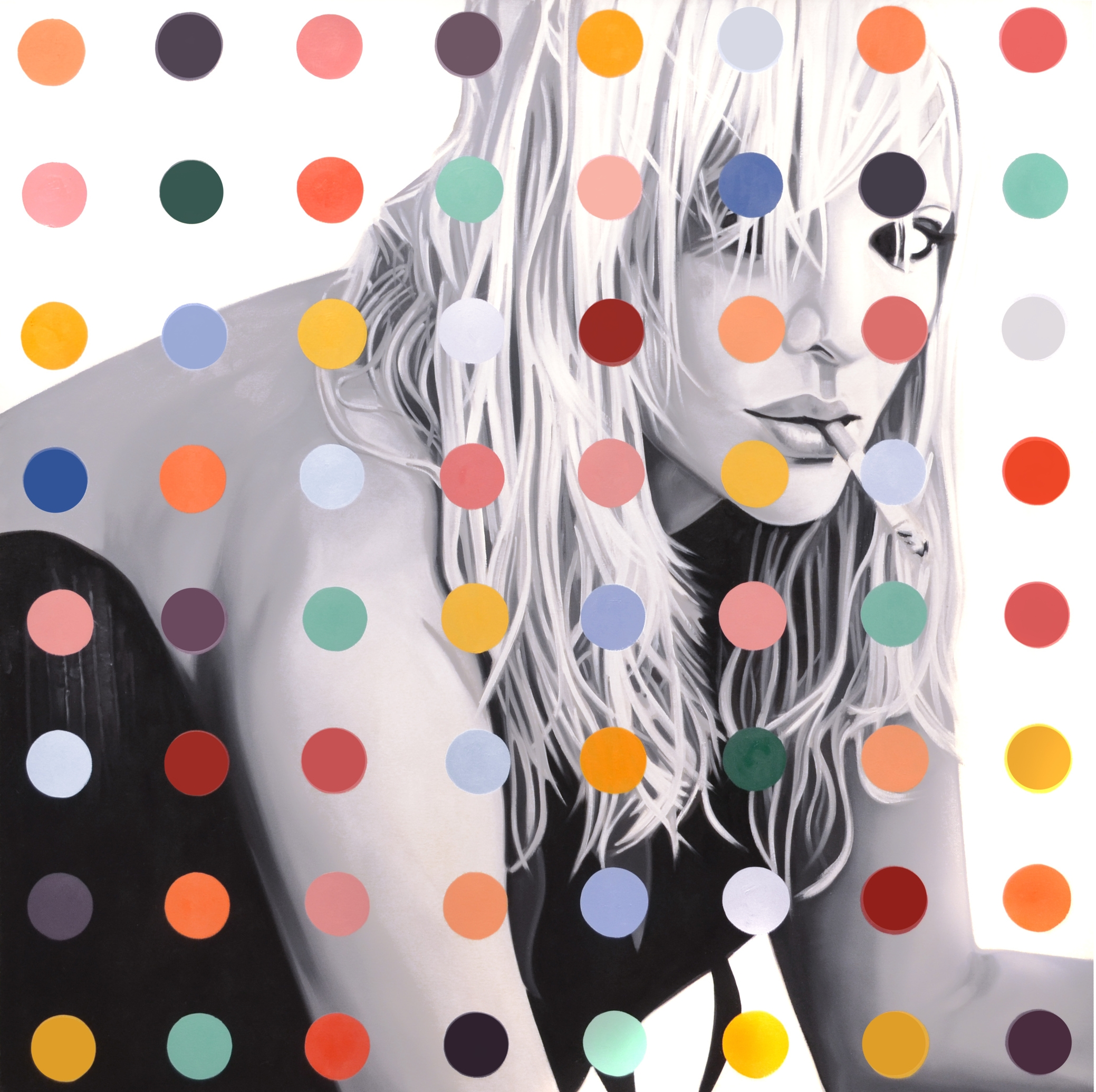Courtney Dot  Oil on Canvas  -  48 x 48in  -  2013                                           SOLD