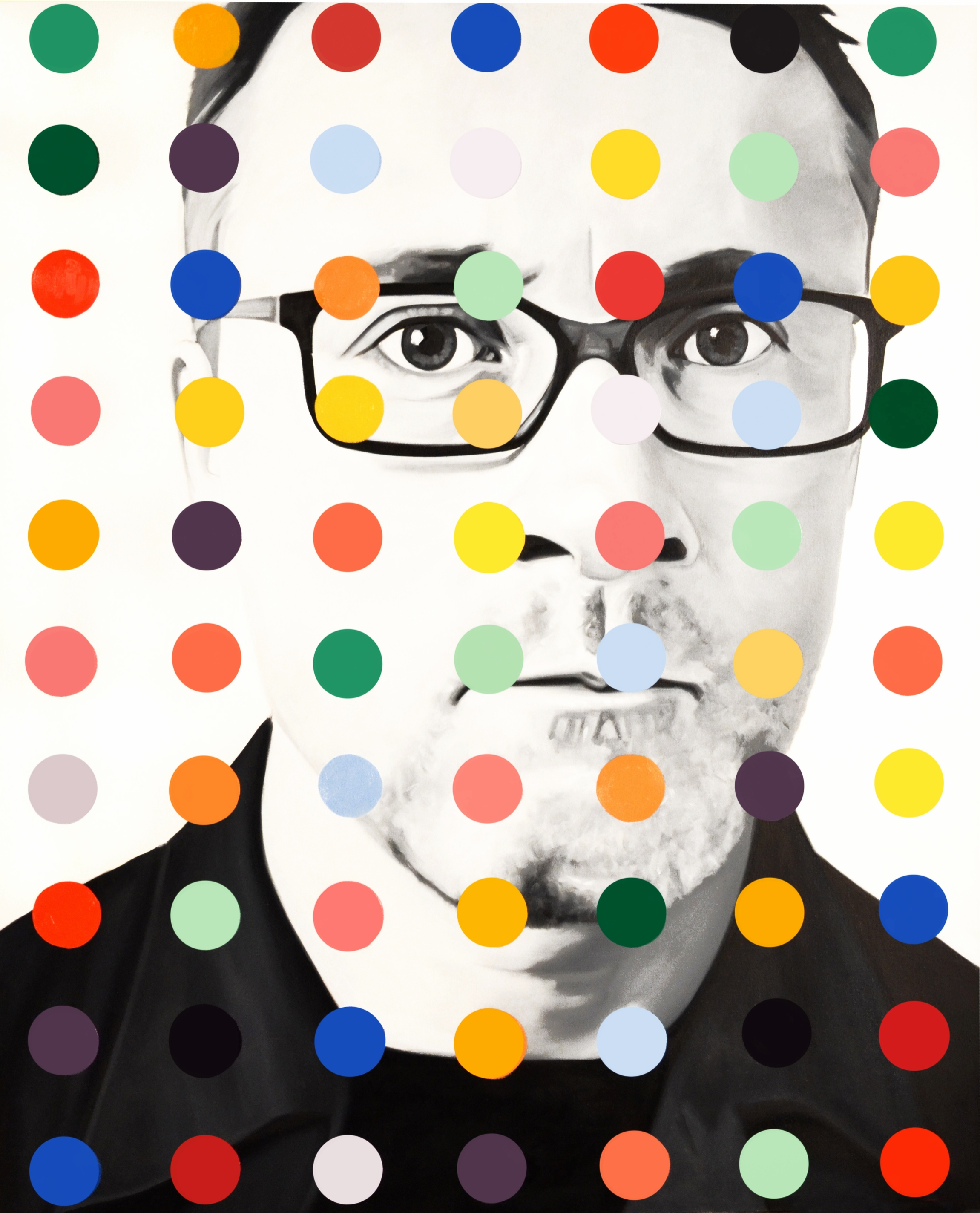 Damien Dot  Oil on Canvas  -  54 x 44in  -  2013                                          SOLD