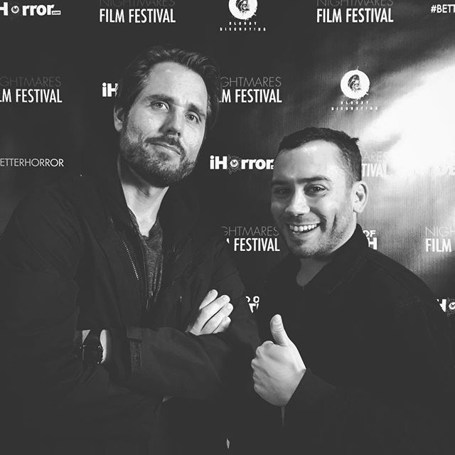 Directors @estobrowno (The Music Lesson) & @nikpayne (MotherF$cker) represent @nightmaresfilmfest #nff18 #betterhorror #newhorror