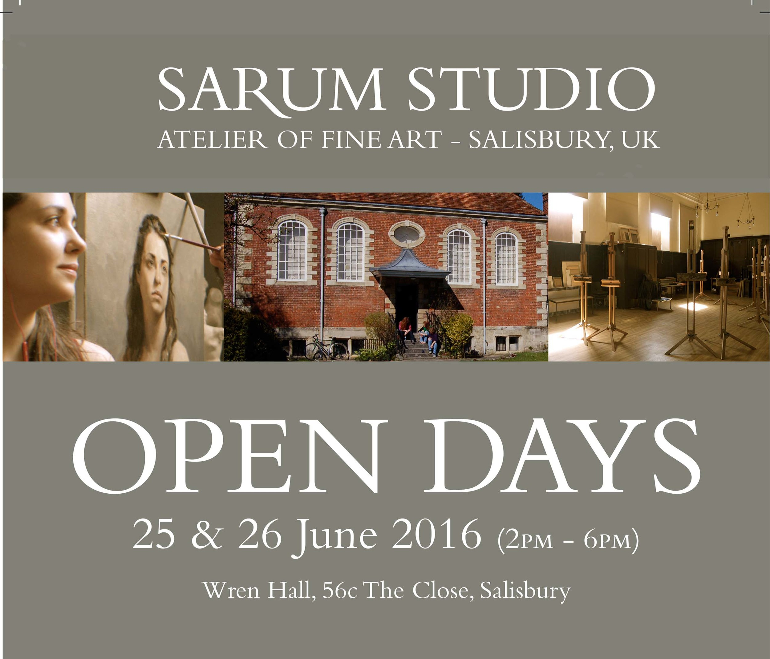 I have spent the last 8 Months studying and assisting at the Sarum Studio in Salisbury. I have had a wonderful time working alongside some exceptionally talented people. The studio is having an open day this weekend. There will be a portraiture demonstration, lecture and exhibition of student work....See you there!