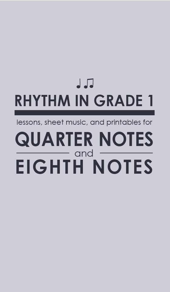 How to teach quarter notes and eighth notes