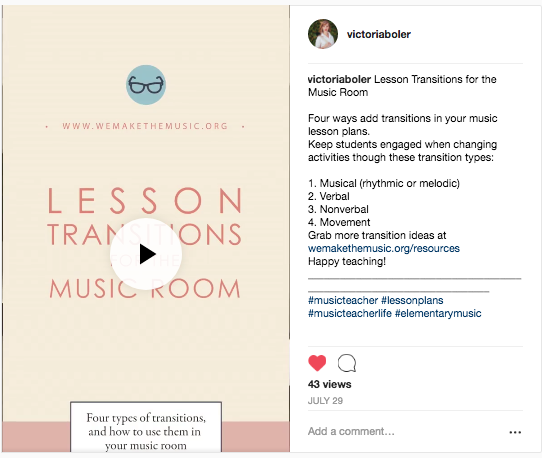 Musical Transitions for Elementary Music Teachers