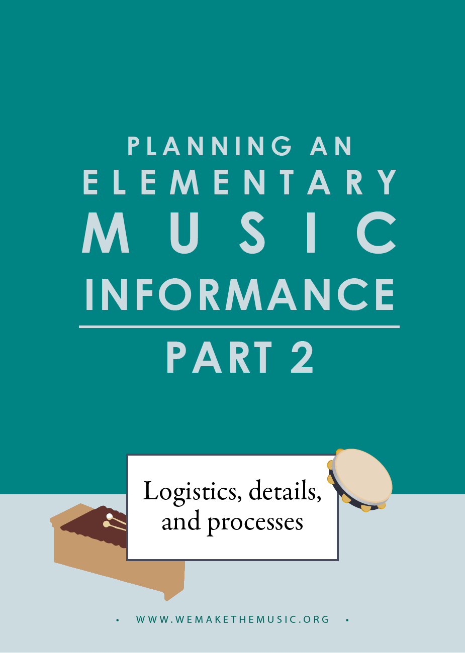 Elementary Music Informance | We Are the Music Makers
