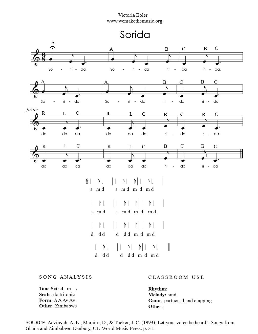 Origin: Zimbabwe — Sheet Music Library — We Are the Music Makers