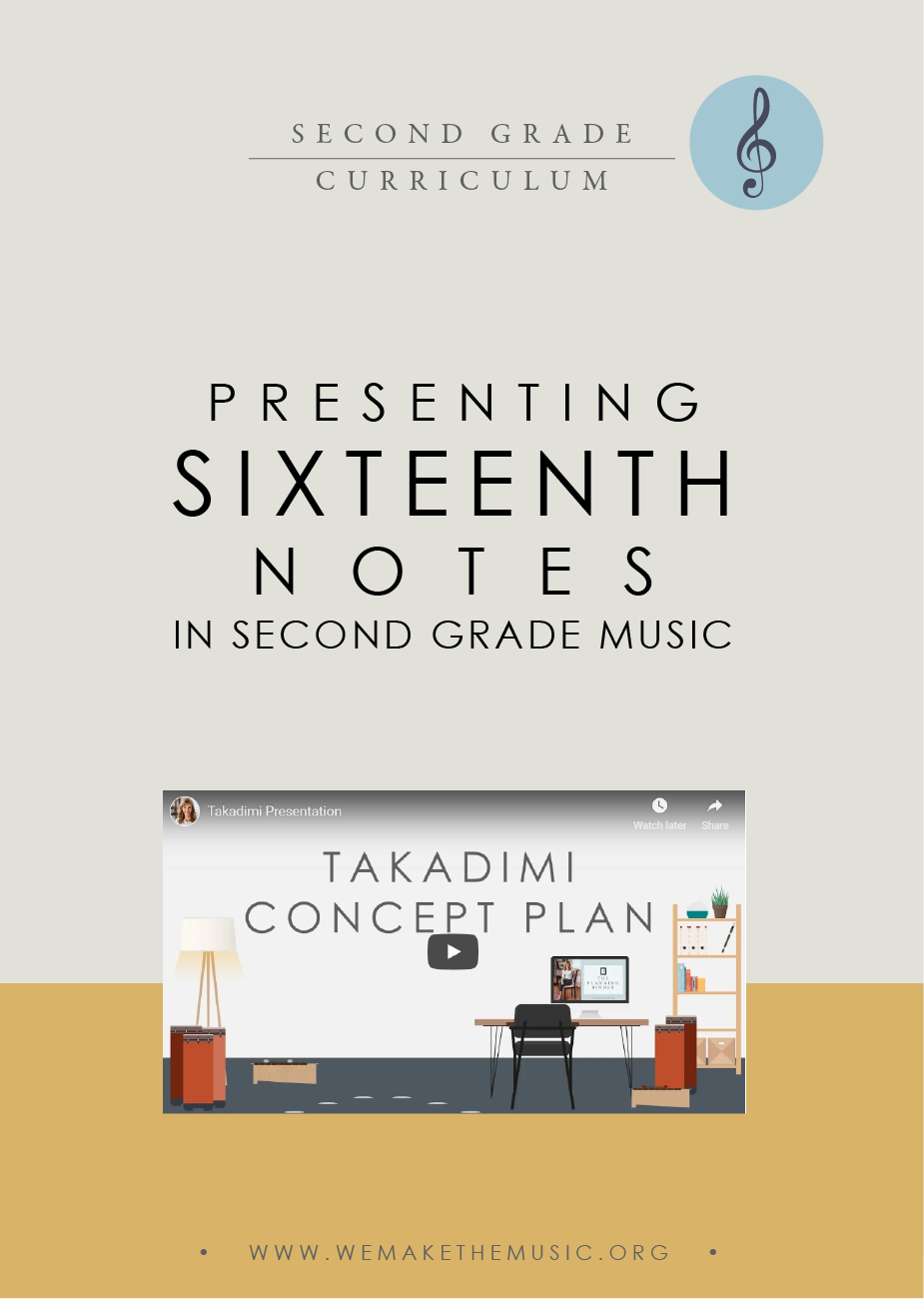Presentation Plan for 16th Notes in 2nd Grade Music