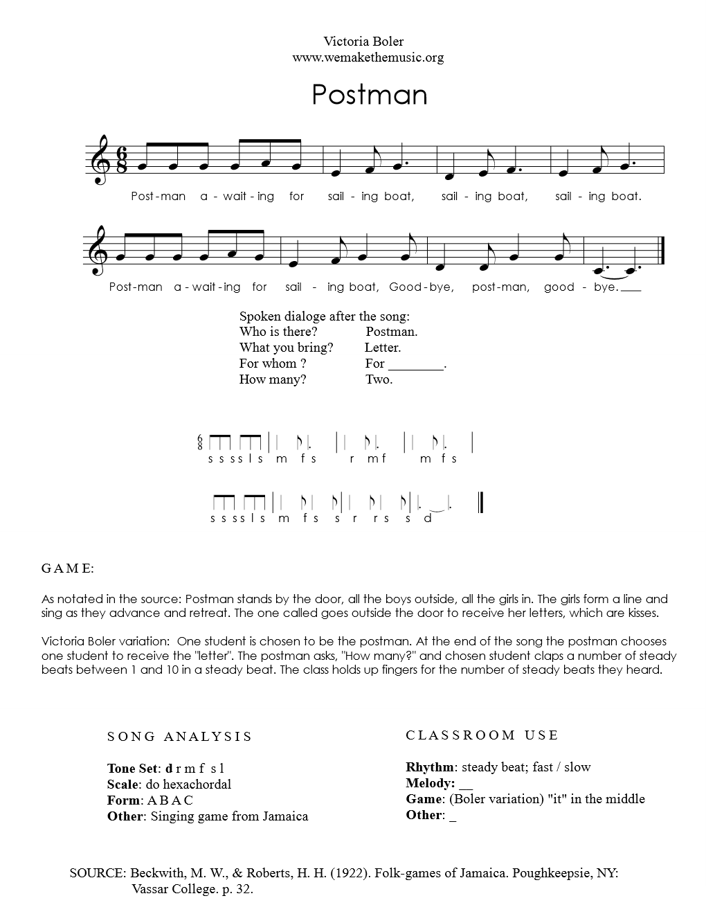 Origin: Jamaica — Sheet Music Library — We Are the Music Makers
