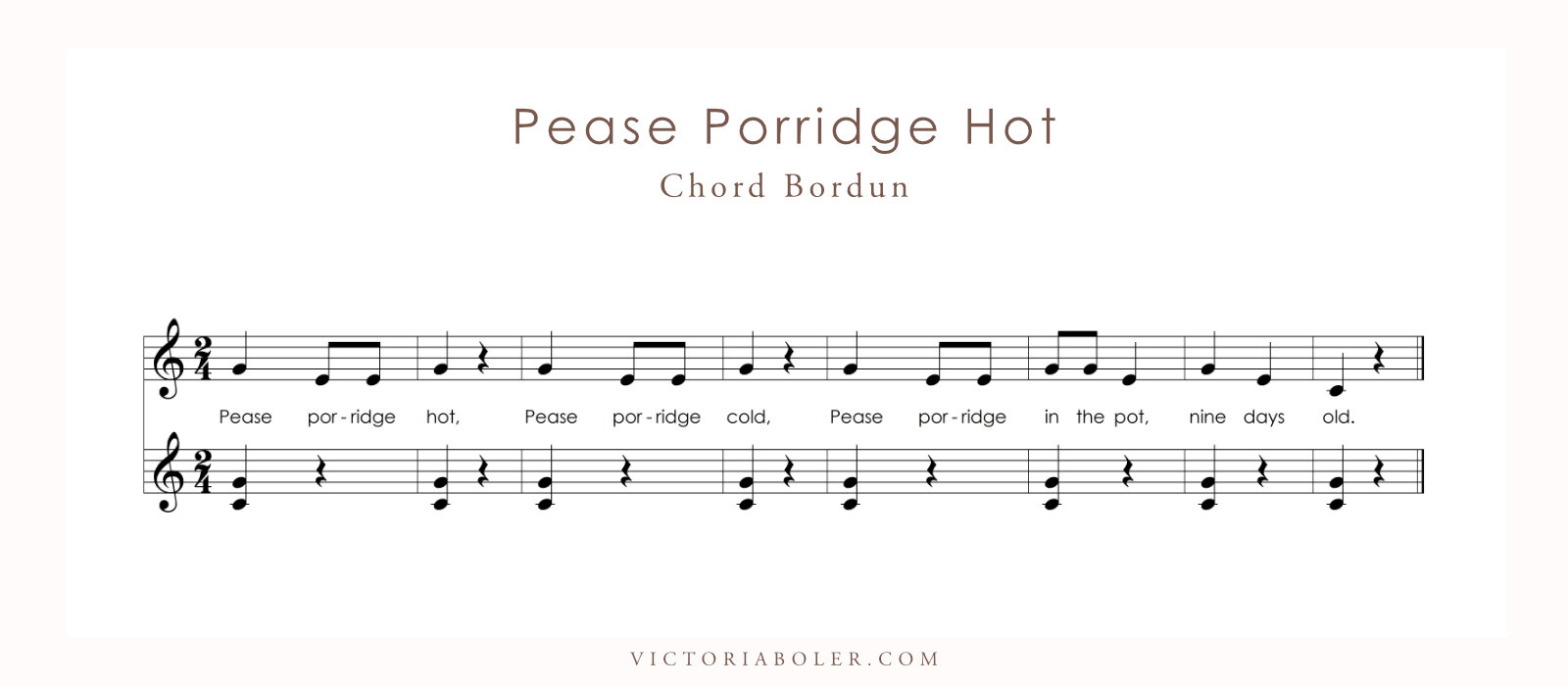 Pease Porridge Hot Chord Bordun